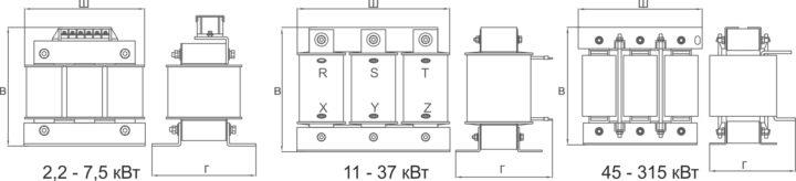 00026400 Сетевой дроссель   Серия ISF  Модель ISF-132/256-4 INSTART (Инстарт) 3